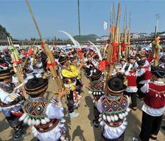 广西融水举办千人芦笙广场舞表演